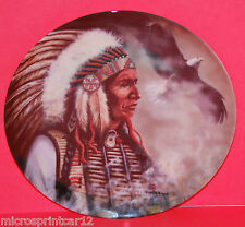 """""""The Noble and the Proud"""" 1993 """"Profiles of Bravery"""" Indian Collectors Plate"""