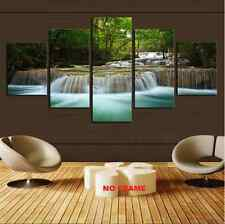 Large Waterfall Print Painting Canvas Wall Art Picture Home Decorate Living Room