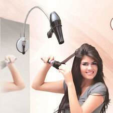 Hands Free Hair Dryer Stand Wall Sucker Sucking Stainless Steel Holder Flexible