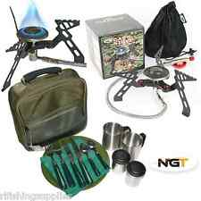NGT Deluxe Fishing Camping Picnic Day Cutlery Set + NGT Compact Gas Stove 3000w