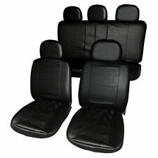 UNIVERSALE NERO ROBUSTO COPRISEDILI AUTO IN SIMILPELLE SET AIR BAG AMICHEVOLE