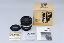 【Near Mint ++】 Nikon Nikkor Ai-s 28mm f/2.8 Wide Angle w/ Box from Japan #2082