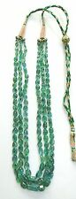 3 strand Colombian Emerald Gemstone Beads Necklace india