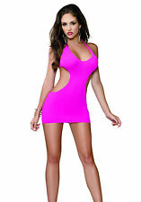 Dreamgirl 9119X Chemise And G-String (Fuchsia;Plus Size)