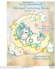 Lacy Sunshine Stitched Adult Colouring Book Cute Whimsical Adorable Animals Gift