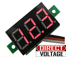 5 PCS DC-100V Digital Voltmeter 3-Cable 0.36 inch 3-Digit LED Red Light