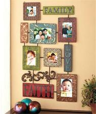 LARGE FAMILY LOVE FAITH EMBOSSED METAL PHOTO PICTURE COLLAGE FRAME