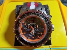 Invicta Men's Unique 12780S Subaqua Black/Orange Dial Red/White Band Titanium