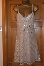 GORGEOUS NUDE & SEQUIN PARTY DRESS,NEW WITH TAGS,SIZE 12