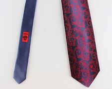 NWT rare GIANNI VERSACE first line silk TIE blue red paisley
