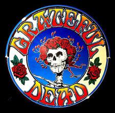 """2.5"""" Grateful Dead LSD SKULL & ROSES Vintage style STICKER. For your bong, pipe"""
