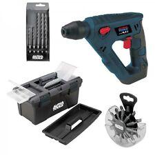 Alpha-Tools A-HD 14,4 Li Set Akku-Bohrhammer 4513472 inkl. Bits, Bohrer & Koffer
