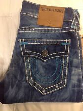 TRUE RELIGION GENO SUPER T MEN JEAN CELL MYSTIC PLSD M24E08NTC3 NWT S-30W $348