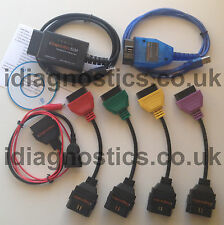 ELM KKL VAG OBD2 3-PIN 4xADAPTERS DIAGNOSTIC LEAD MULTIECUSCAN ALFA FIAT CAN