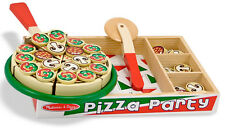 Melissa & Doug Wooden Pizza Set Play Food Role Play Toy Gift Toddler Child BNIB