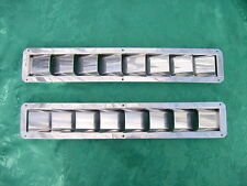 "STAINLESS STEEL BOAT MARINE BILGE VENTS 8 RAISED LOUVER 16-3/8"" LONG x 2-7/8"" W"