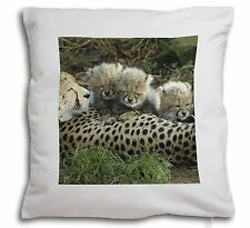 Cheetah and Newborn Babies Soft Velvet Feel Scatter Cushion Christmas, AT-39-CPW