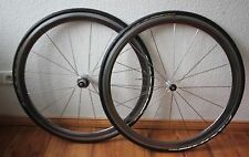 blue Mavic Cosmic 8-sp wheelset 2. Gen 16 Aeroblade Spokes for Shimano Clincher