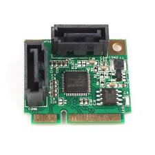 Mini PCI-Express to 2 Ports SATA 3.0 III 6Gb/s Expansion Card Single Chip Design