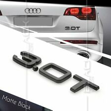 MATTE BLACK 3.0T REAR BOOT TRUNK LOGO LETTER EMBLEM BADGE FOR AUDI QUATTRO SLINE