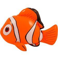 Nuevo Inflable volar 43cm Buscando A Nemo Pez Naranja Blanco Partido Prop Aqua Coral
