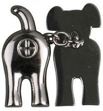 Slam Designs CL1CRO Dog End Bottom Cuff Links Chrome Finish Novelty Cheeky Gift