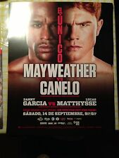 "MAYWEATHER VS CANELO BOXING FULL SZ POSTER 22""X 29"" WELTERWEIGHT POSTER BLACK"