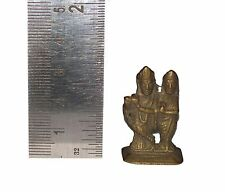 Beautiful Brass Prosperity Amulet figure Radha Krishna for good luck from India