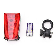 1x LOGO Projection Version Bicycle Rear Tail Lamp 5 LED 2 Laser Cycle Bike Light