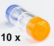10 x Kontaktlinsen Behälter Schraubverschluß Linsenbehälter für harte Linsen RGP