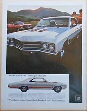 1967 magazine ad for Buick - GS-340 & GS-400 models - colorful photos
