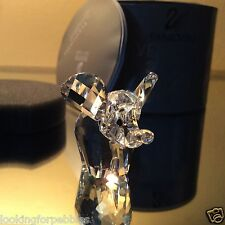 Swarovski Crystal Small Elephant MIB/COA! #7640NR040 / 151489 Retired, Swan logo