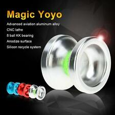 Magic Yoyo T6 Rainbow Aluminum Alloy Metal Yoyo 8 Ball KK Bearing Silver Z2Q7