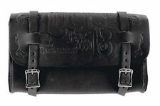 Lucky 13 Mfg Co Leather Tool Pouch Bag Black Hot Rod Motorcycle Scene Tattoo