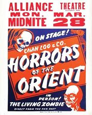 Vintage Magic  Horrors Of The Orient   Freakshow Carnival Circus  Theater POSTER