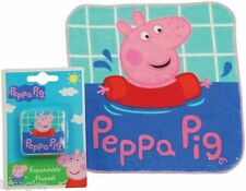 PEPPA PIG nouveau extensible flanelle magic visage serviette rrp £ 3.99