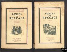Contes De Boccace I Et II collection les écrivains illustres