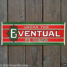 Vintage Original EVENTUAL CIGAR STORE Window Paper Poster 1920s Christmas Colors
