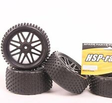 4 pcs RC Front & Rear Tires Insert Sponge Wheel HSP 1:10 Off-Road Buggy 66015
