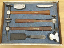SNAP ON 7 PIECE BODY TOOL SET / PANEL BEATING 3 HAMMERS 3 DOLLYS 1 DINGING SPOON