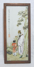 Chinese Famille Rose Porcelain Plaque With Frame   4332