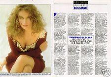 Coupure de Presse Clipping 1989 (2 pages) Emmanuelle Béart par Rosenstiehl