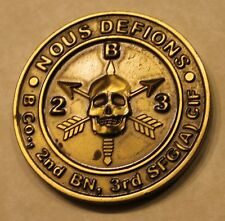 3rd Special Forces Airborne 2nd BN B Co CIF American Bad A$$ Army Challenge Coin