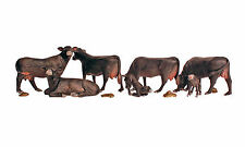 Woodland Scenics HO Scale Scenic Accents Figures - Black Angus Cows