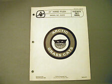"Vintage Arctic Cat Grass Cat 21"" Hand Push A2012 Parts Manual"