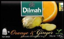 DILMAH Tee - Orange & Ginger Flavoured Black Ceylon Tea 20 Teebeutel
