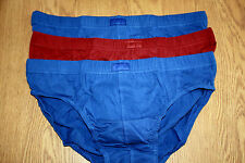 MENS SLAZENGER BRIEFS PANTS 6 PAIRS MIXED BLUES REDS SIZE LARGE BNWT