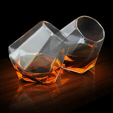 GLASS Diamond Shape Whiskey Glasses Spirit Glass Tumblers Ideal Drinking