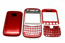 KEYPAD + CHASSIS + BACK DOOR + LENS + HOUSING FOR BLACKBERRY CURVE 8520 RED