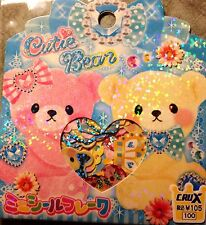 Kawaii CruX Cutie Bear Sticker Flakes Sack 52 Stickers